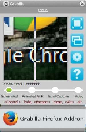 Screen Capture Programs - Screenshot for Grabilla