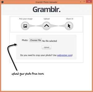 Image Manipulation Software - Screenshot for Gramblr