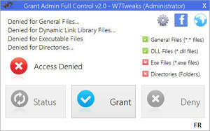 File Organizers - Screenshot for Grant Admin Full Control