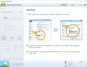 GreenCloud Printer Screenshot