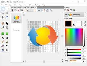 Icon Editors - Screenshot for Greenfish Icon Editor Pro