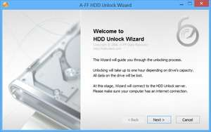 HDD Unlock Wizard Screenshot
