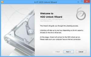 Disk Management Utilities - Screenshot for HDD Unlock Wizard