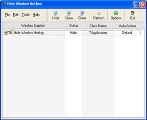 Hide Window Hotkey Screenshot