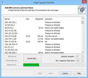 High Speed Verifier Screenshot