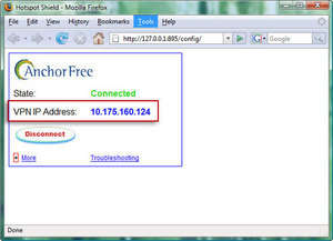 Anonymous Internet Browsing - Screenshot for Hotspot Shield