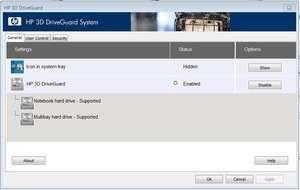 HP 3D DriveGuard Screenshot