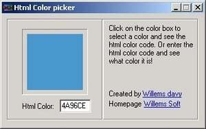HTML Accessories - Screenshot for Html Color Picker