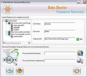 IE Password Rescue Software Screenshot