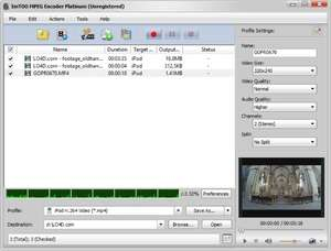 ImTOO MPEG Encoder Platinum Screenshot