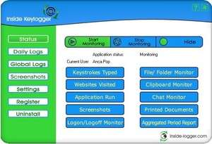 Inside Keylogger Screenshot