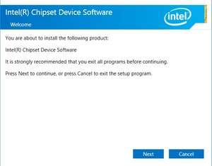 Intel Chipset Software Installation Utility Screenshot