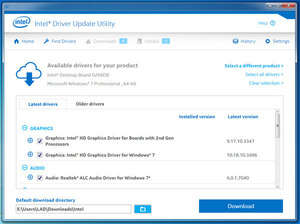 Intel Driver Update Utility Screenshot
