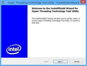 Intel HyperThreading Test Utility Screenshot