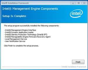 Intel Management Engine Components Screenshot