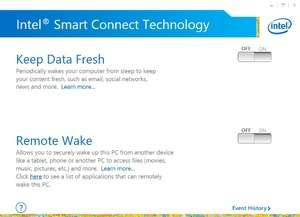 Intel Smart Connect Technology Screenshot