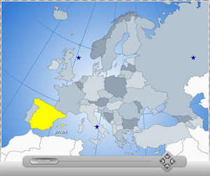 Interactive Flash Map of Europe Screenshot