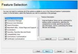Internet Explorer Administration Kit 9 Screenshot