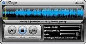 Ringtone Software - Screenshot for iRinger