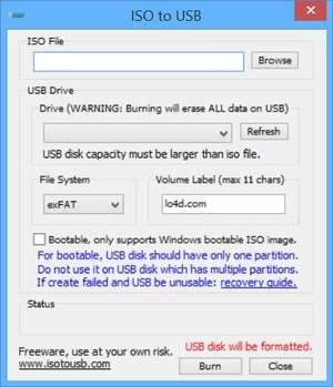 Computer Utilities - Screenshot for ISO to USB