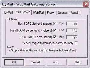 IzyMail Online Screenshot