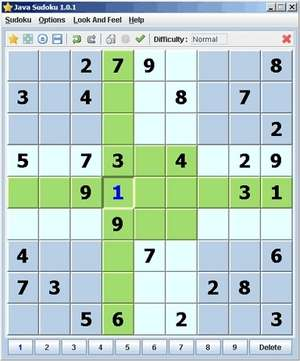 Puzzle Games - Screenshot for Java-Sudoku
