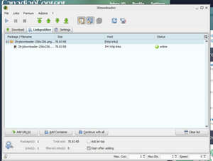 Download Managers - Screenshot for JDownloader