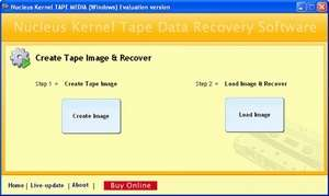 Kernel Tape Data Recovery Software Screenshot