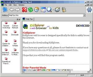 KidSplorer Web Browser Screenshot