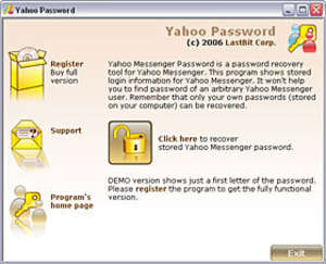 Yahoo Password Recovery Screenshot