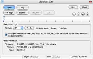 Audio Video Splitters - Screenshot for Leapic Audio Cutter