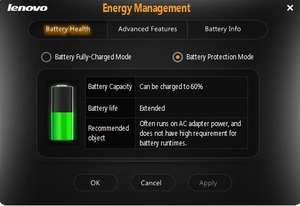 Lenovo Energy Management Screenshot