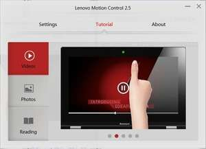Lenovo Motion Control Screenshot