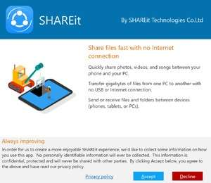 Lenovo SHAREit Screenshot