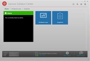 Lenovo Solution Center Screenshot