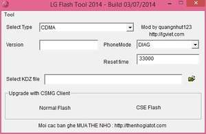 LG Flash Tool Screenshot