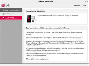 LG Support Tool Screenshot