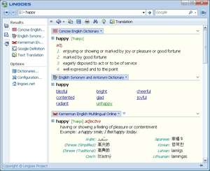 Language and Translator Programs - Screenshot for Lingoes