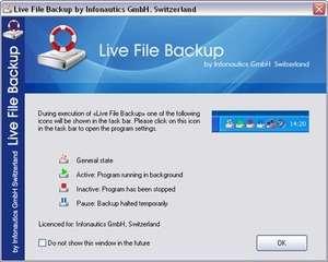 Live File Backup Screenshot