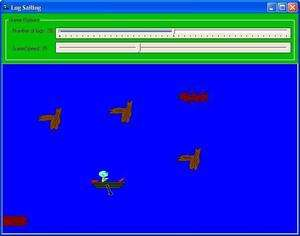 Simulation Games - Screenshot for Log Sailing