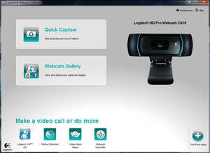 Logitech HD Webcam Software Screenshot