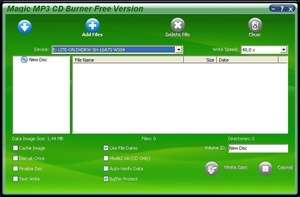 Magic Mp3 CD Burner Screenshot
