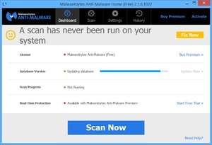 Spyware Removal - Screenshot for Malwarebytes Anti-Malware
