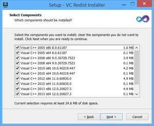 Install and Uninstall Tools - Screenshot for McRip VC Redist Installer