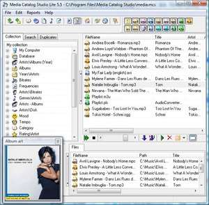 Cataloging Software - Screenshot for Media Catalog Studio Lite