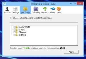 MediaFire Desktop Screenshot