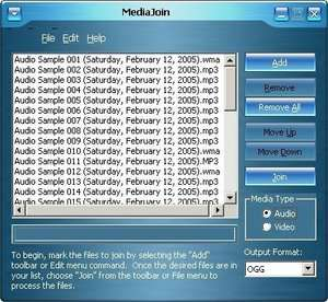 Audio Video Splitters - Screenshot for MediaJoin