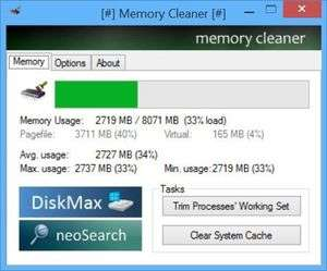 Memory Tweaks - Screenshot for Memory Cleaner