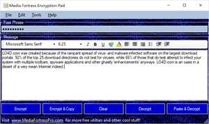 MF Encryption Pad Screenshot