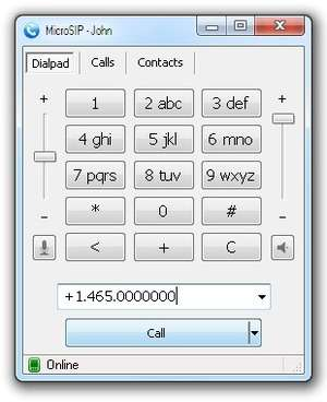 Modem and Telephony Tools - Screenshot for MicroSIP